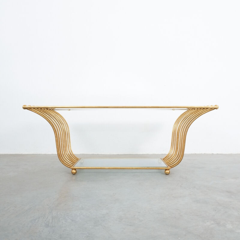 Royere Style Large Golden Table 01