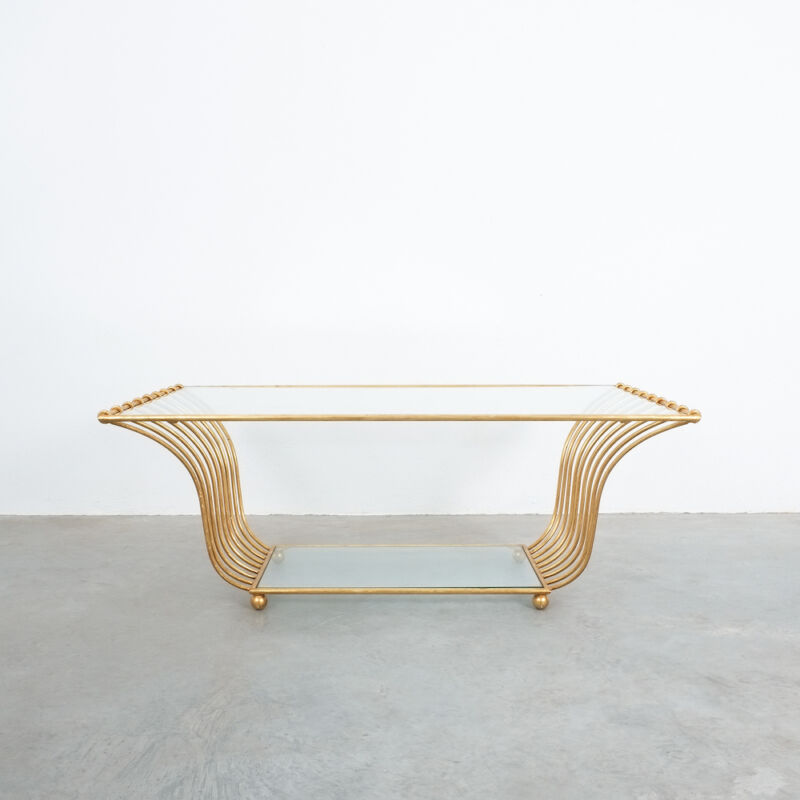 Royere Style Large Golden Table 02
