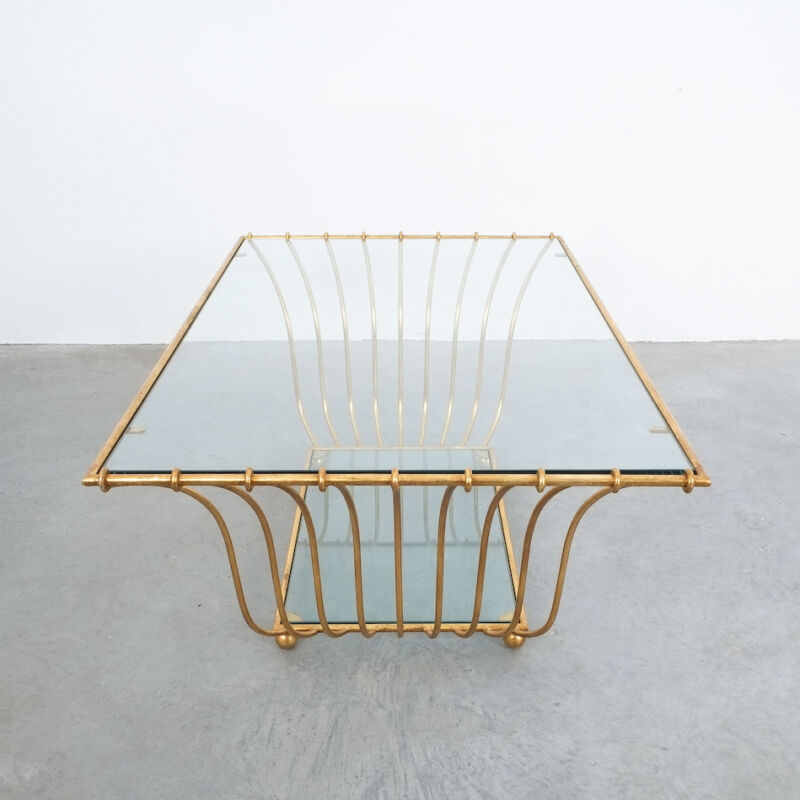 Royere Style Large Golden Table 03