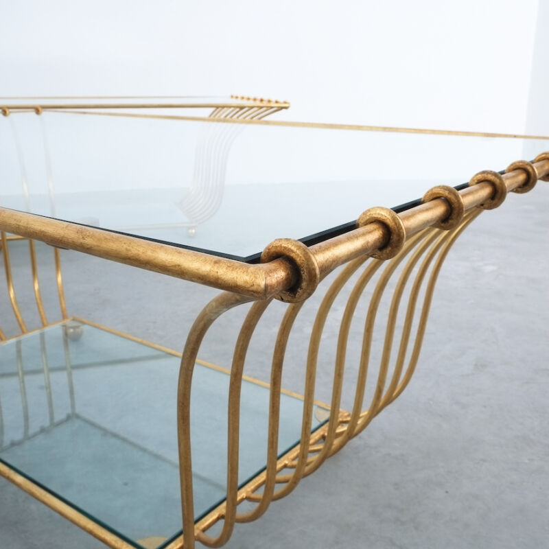 Royere Style Large Golden Table 13