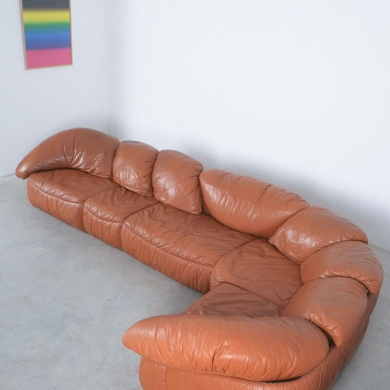 Sectional Sofa Wiener Werkstaette Leather 1970 04