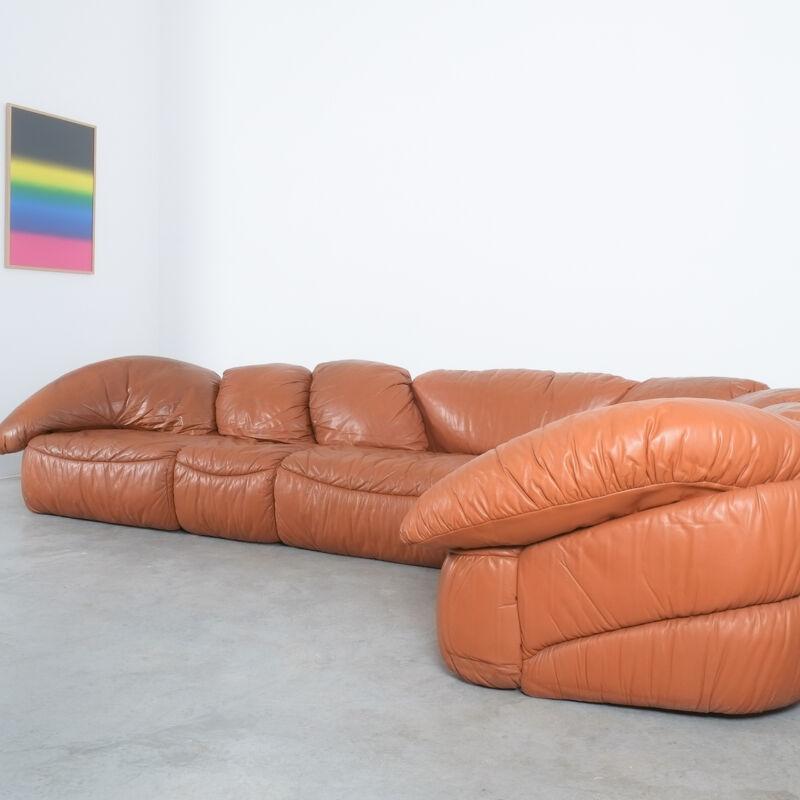 Sectional Sofa Wiener Werkstaette Leather 1970 05