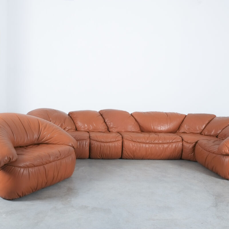 Sectional Sofa Wiener Werkstaette Leather 1970 08
