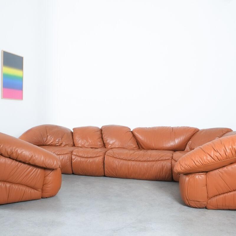 Sectional Sofa Wiener Werkstaette Leather 1970 12