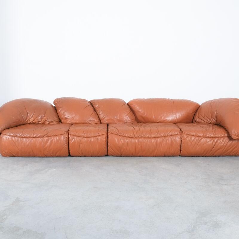 Sectional Sofa Wiener Werkstaette Leather 1970 13