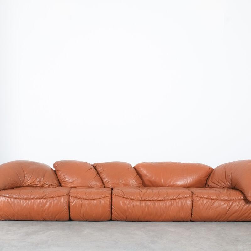 Sectional Sofa Wiener Werkstaette Leather 1970 14