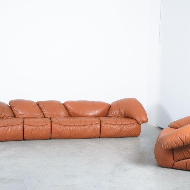 Sectional Sofa Wiener Werkstaette Leather 1970 15