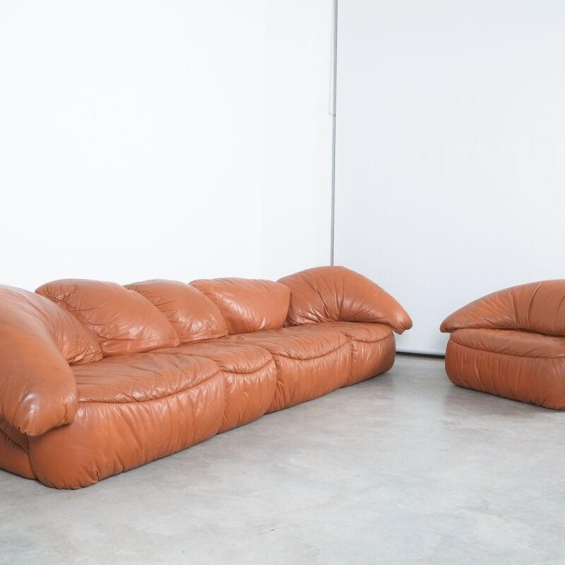 Sectional Sofa Wiener Werkstaette Leather 1970 17