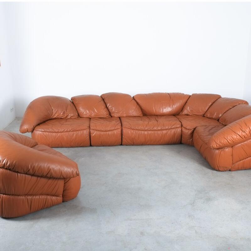 Sectional Sofa Wiener Werkstaette Leather 1970 19