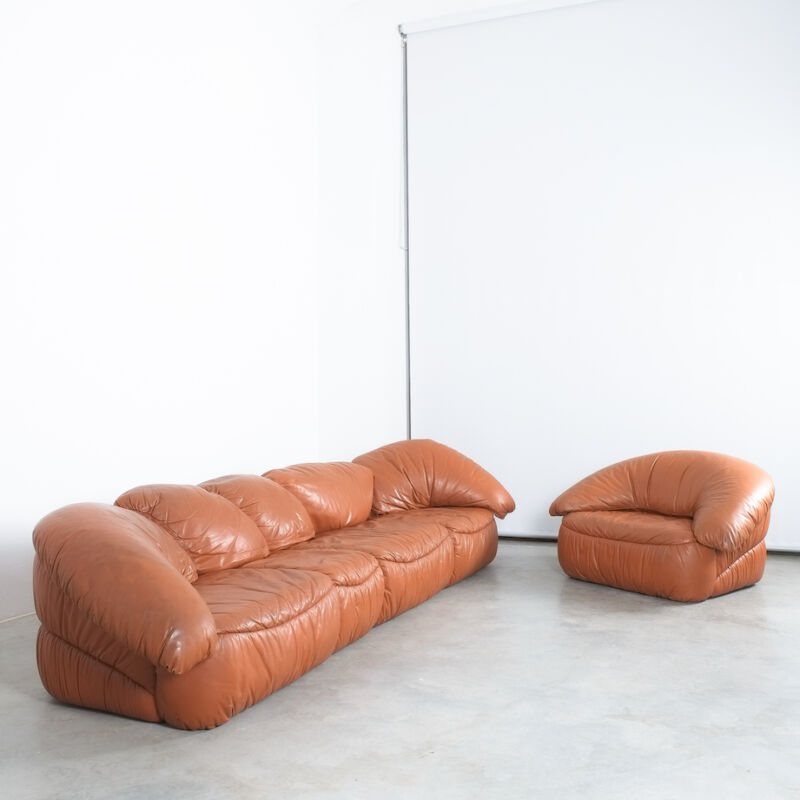 Sectional Sofa Wiener Werkstaette Leather 1970 20