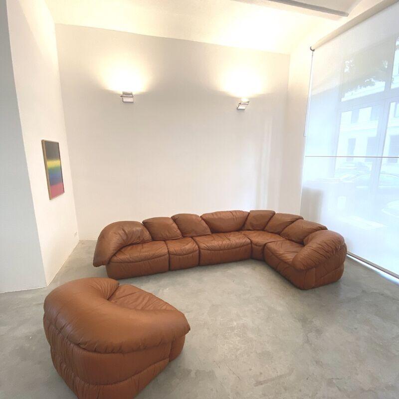 Sectional Sofa Wiener Werkstaette Leather 1970 21