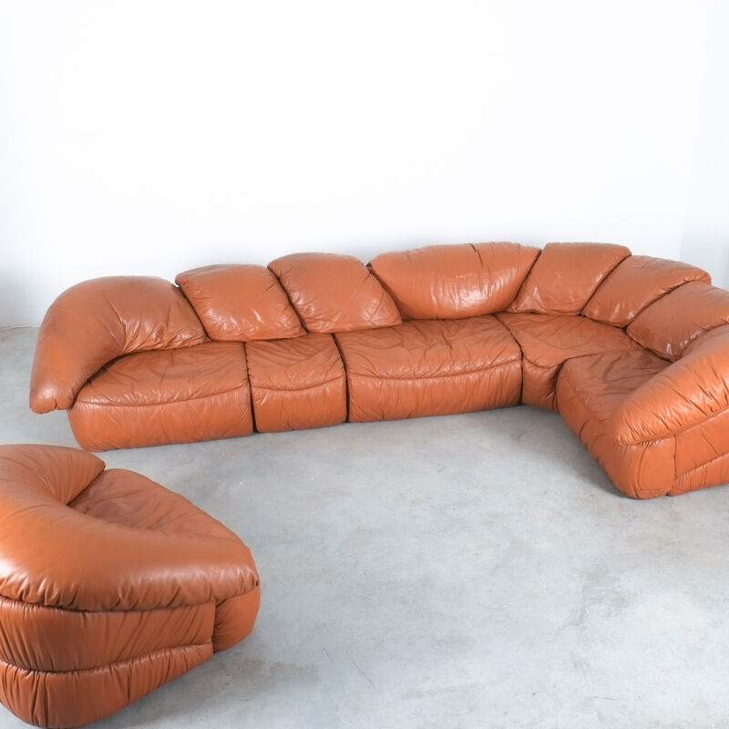 Sectional Sofa Wiener Werkstaette Leather 1970 22