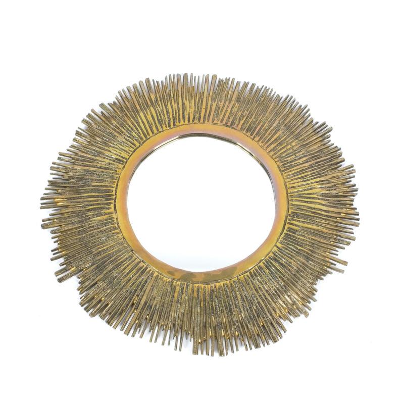 Solid Brass Mirror 60cm 2