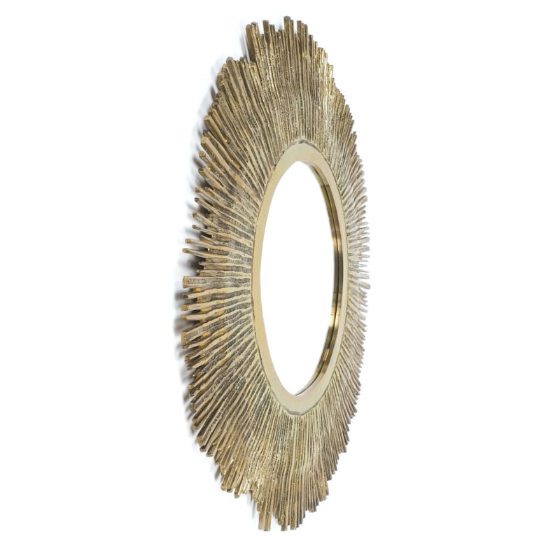 Solid Brass Mirror 60cm 3