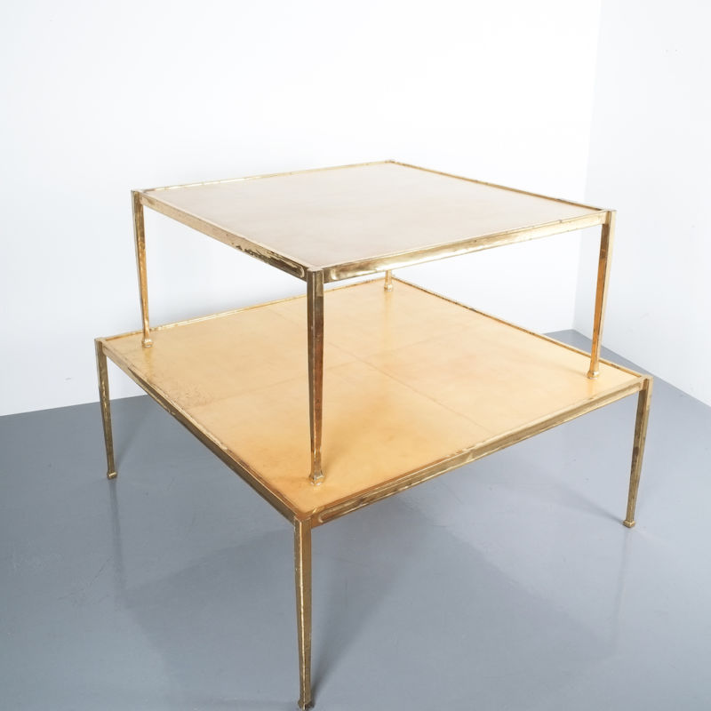 Solid Brass Parchment Table Style Frank Tura 01