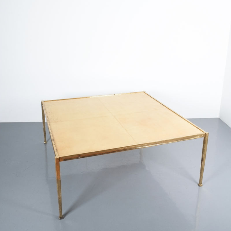 Solid Brass Parchment Table Style Frank Tura 02