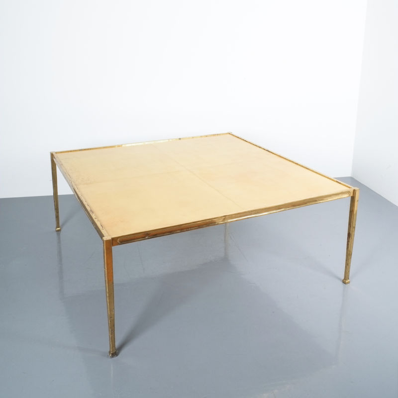Solid Brass Parchment Table Style Frank Tura 04