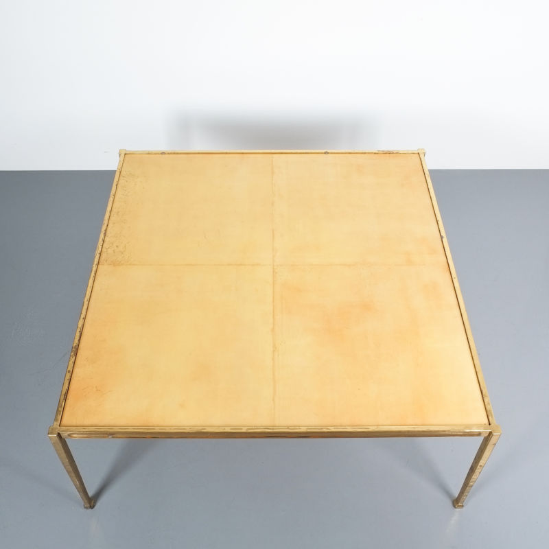 Solid Brass Parchment Table Style Frank Tura 05