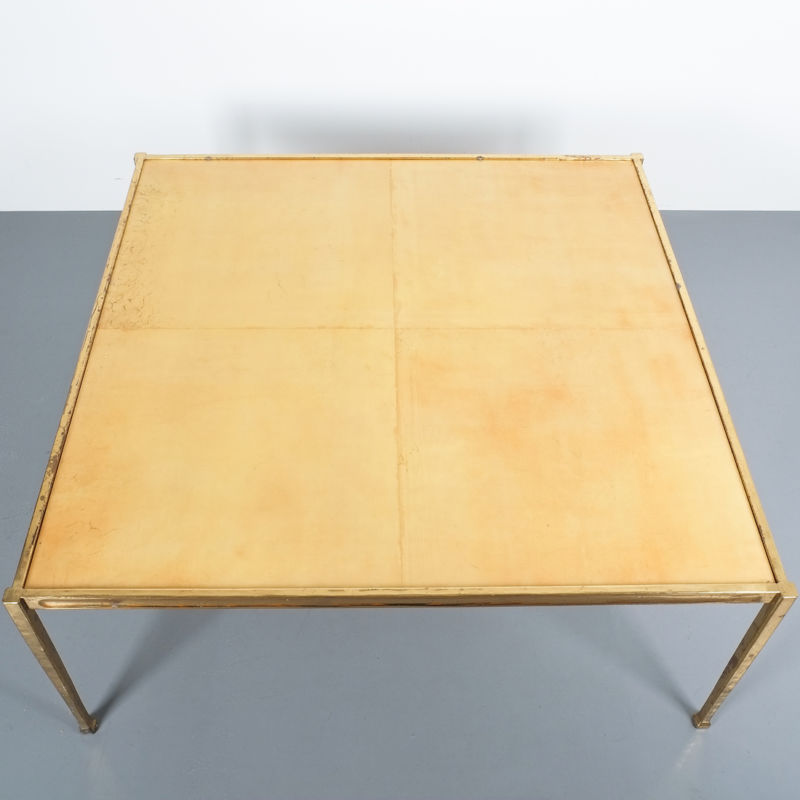 Solid Brass Parchment Table Style Frank Tura 06