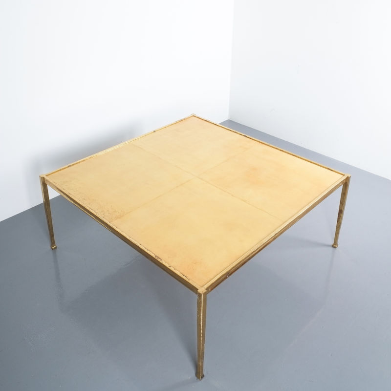 Solid Brass Parchment Table Style Frank Tura 07