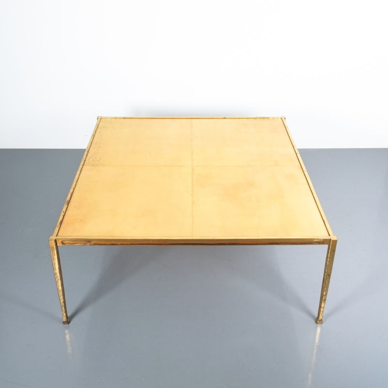 Solid Brass Parchment Table Style Frank Tura 08