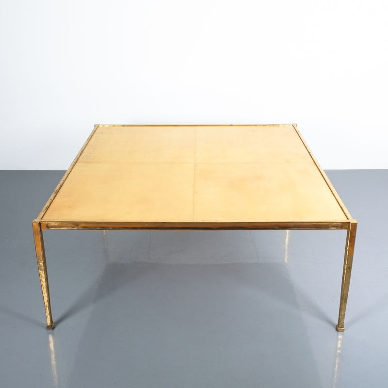 Solid Brass Parchment Table Style Frank Tura 09
