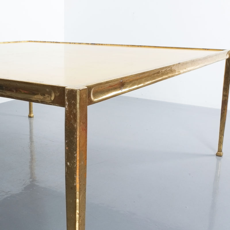 Solid Brass Parchment Table Style Frank Tura 10