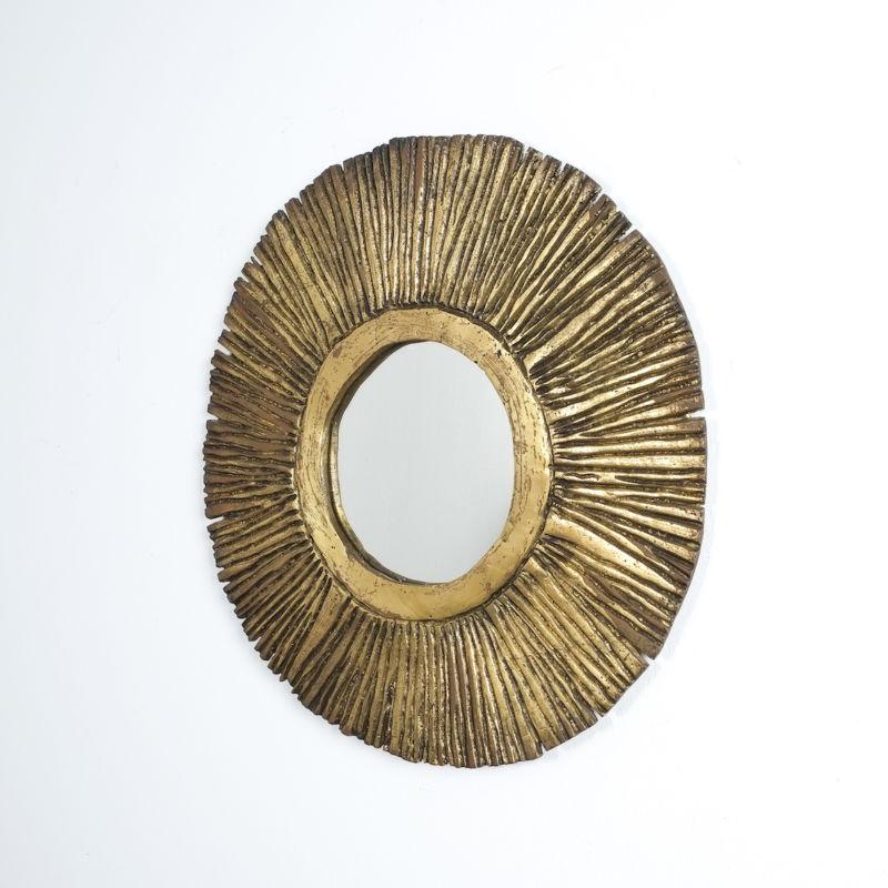 Solid Brass Sunburst Mirror 04