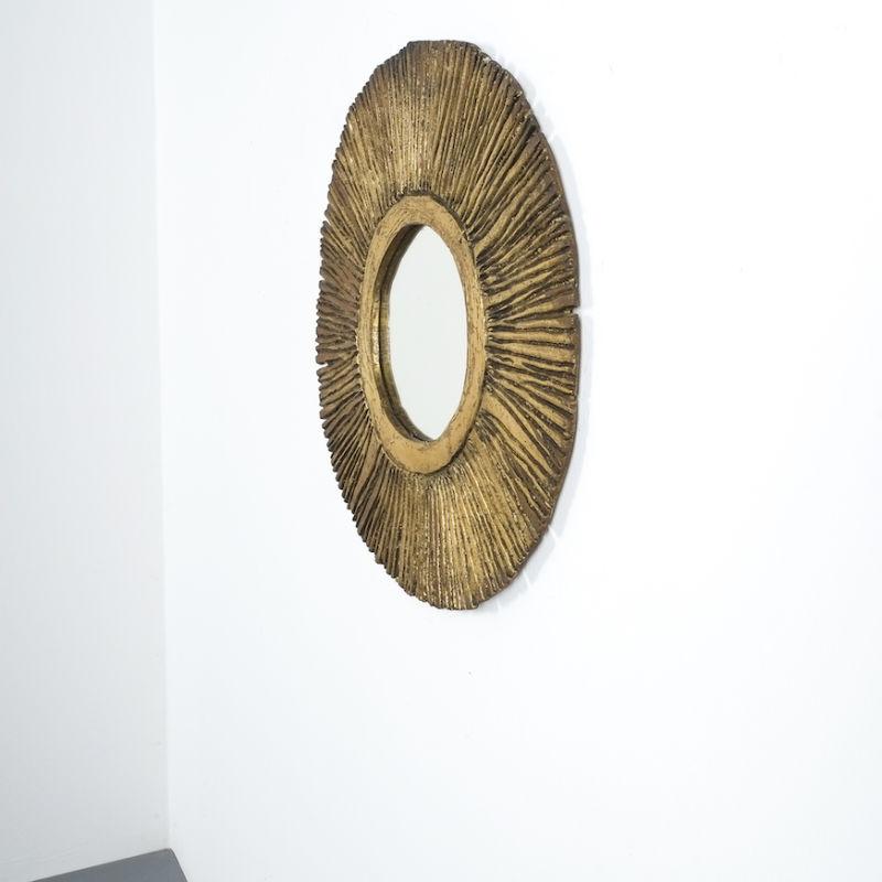 Solid Brass Sunburst Mirror 05