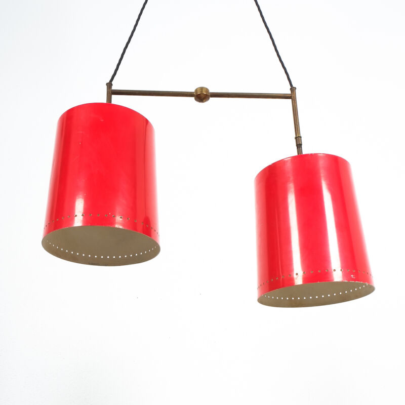 Stilnovo Double Pendant Red Brass 02