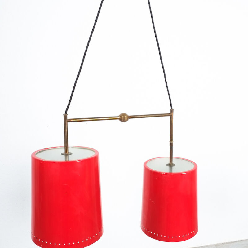 Stilnovo Double Pendant Red Brass 04