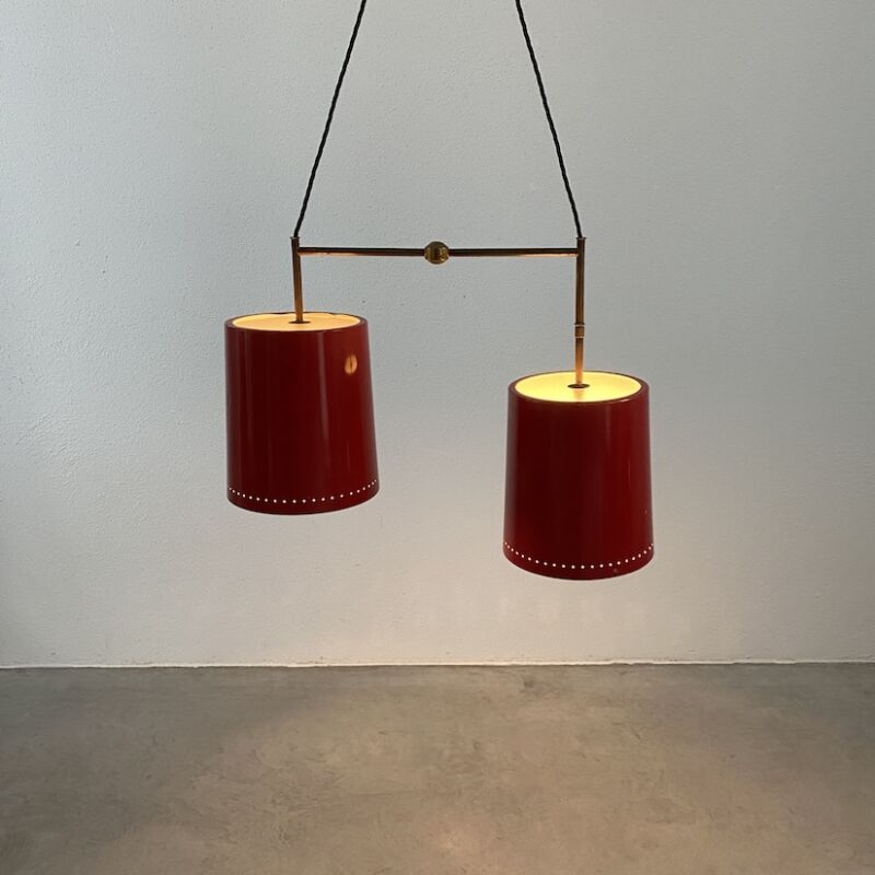 Stilnovo Double Pendant Red Brass 09