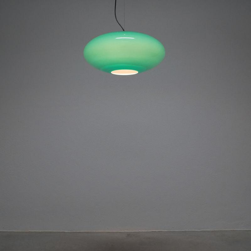 Stilnovo Green Glass Pendant 01