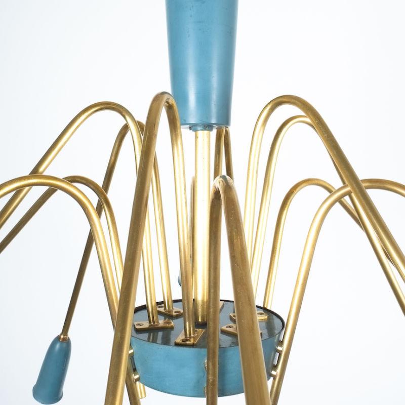 stilnovo large chandelier blue_01