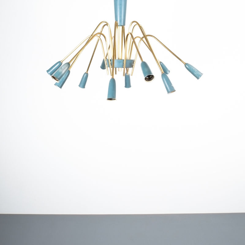 stilnovo large chandelier blue_05