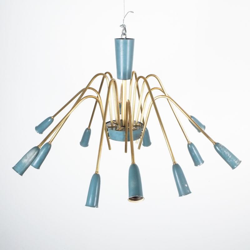 stilnovo large chandelier blue_07