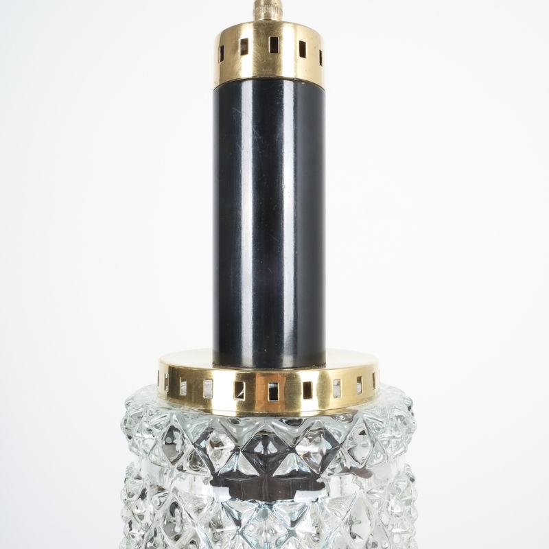 Stilnovo Pendants Brass Textured Glass 01