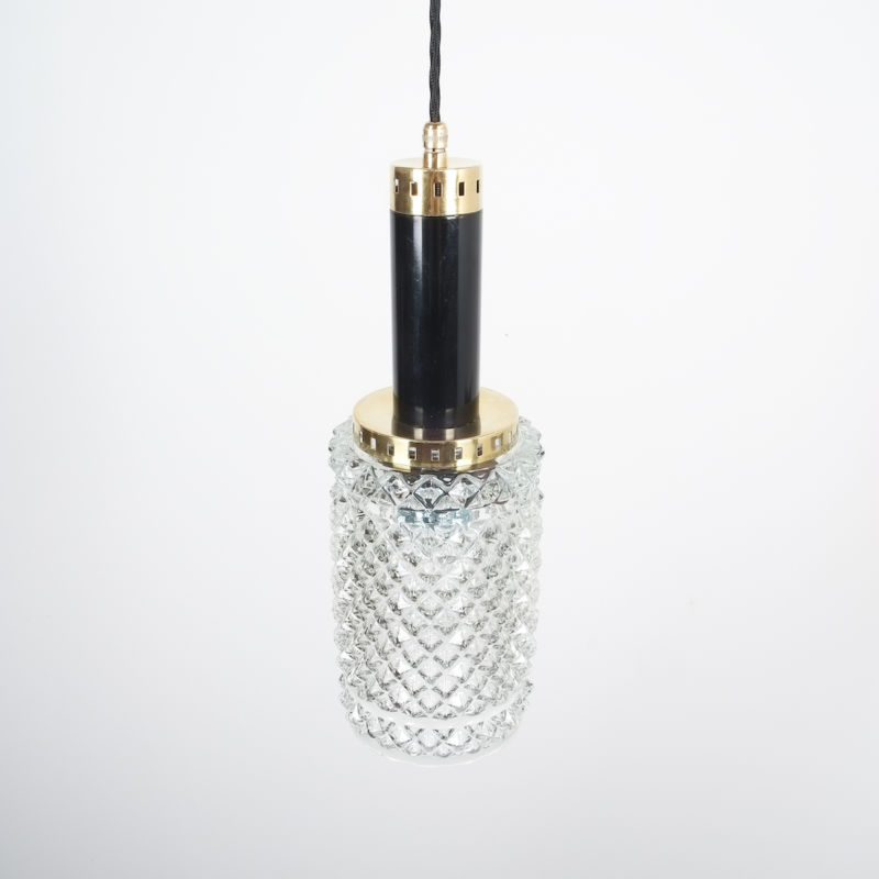 Stilnovo Pendants Brass Textured Glass 03