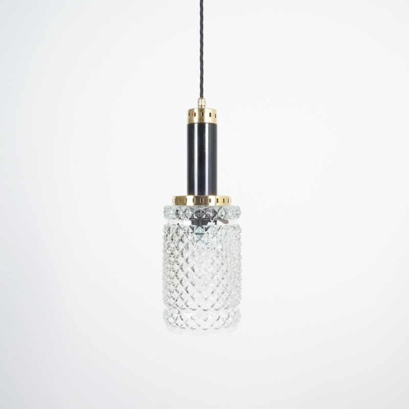Stilnovo Pendants Brass Textured Glass 04