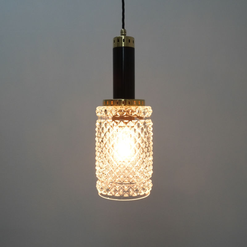 Stilnovo Pendants Brass Textured Glass 06