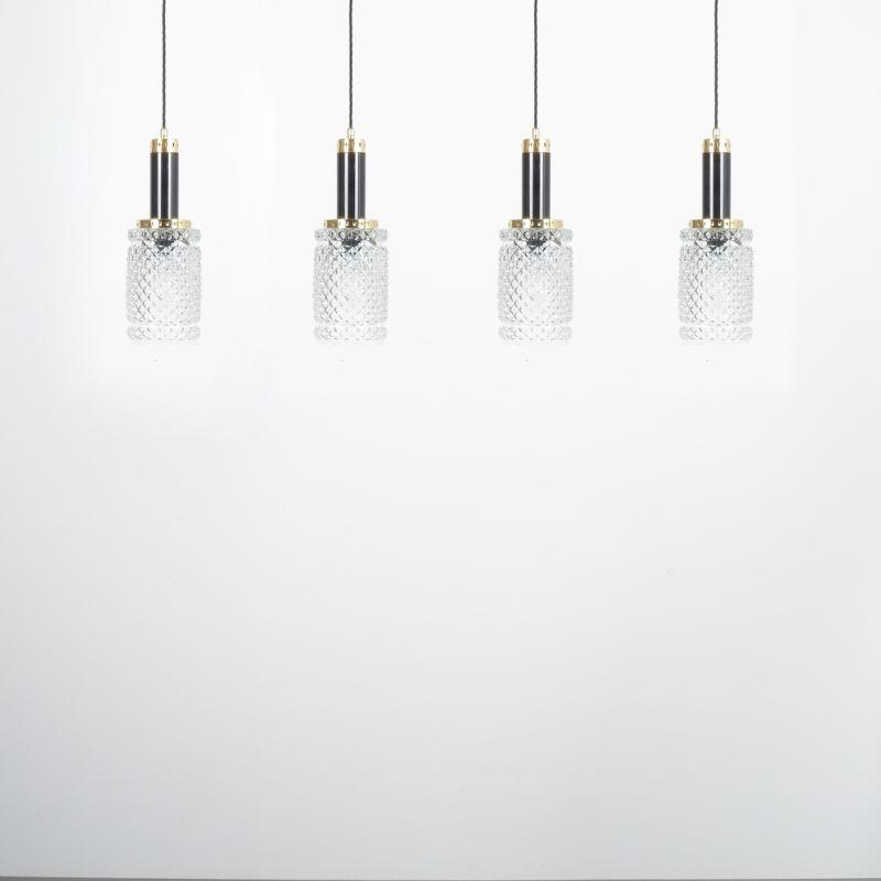 Stilnovo Pendants Brass Textured Glass 07