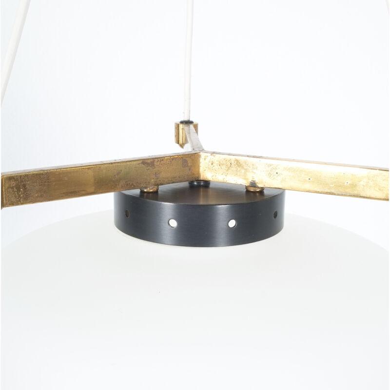 Stilnovo Three Arm Opal Glass Lamp 01