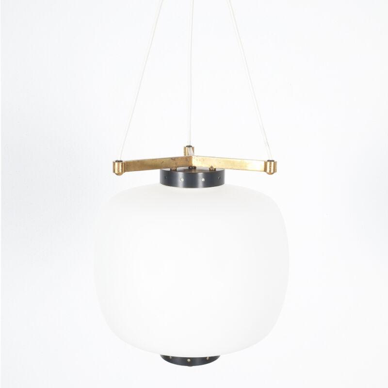 Stilnovo Three Arm Opal Glass Lamp 03