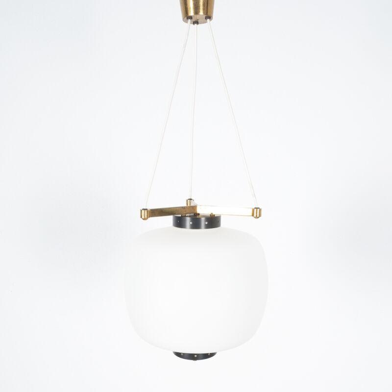 Stilnovo Three Arm Opal Glass Lamp 04