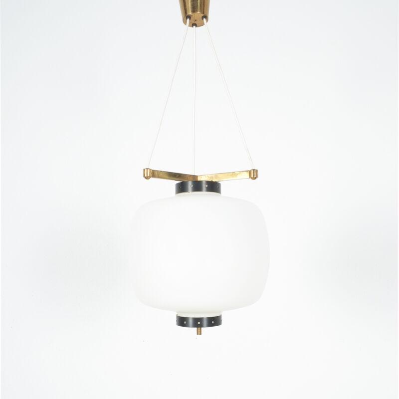 Stilnovo Three Arm Opal Glass Lamp 05