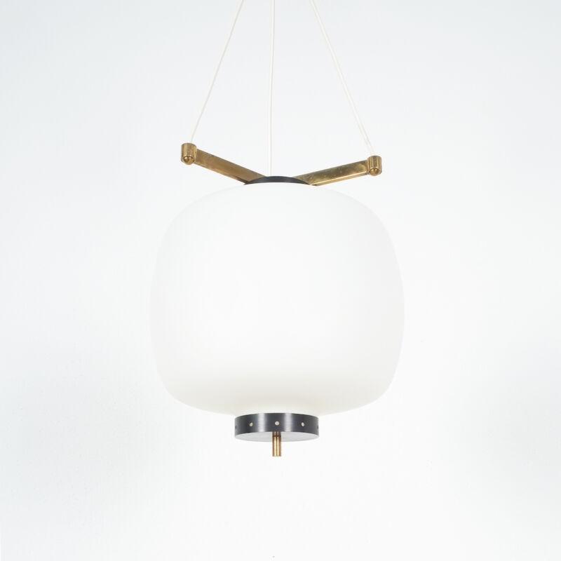 Stilnovo Three Arm Opal Glass Lamp 07