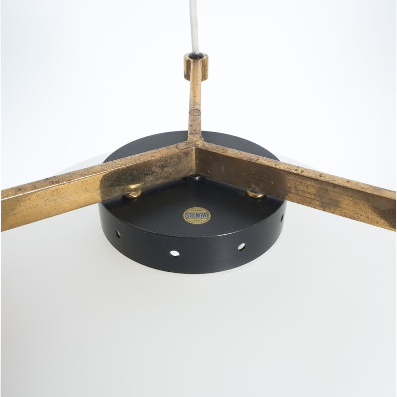 Stilnovo Three Arm Opal Glass Lamp 08