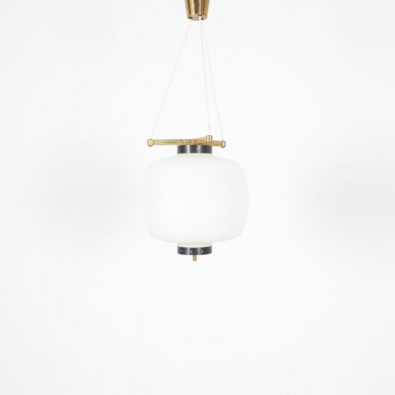 Stilnovo Three Arm Opal Glass Lamp 11
