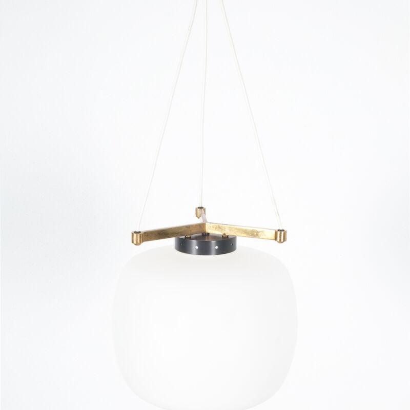 Stilnovo Three Arm Opal Glass Lamp 12