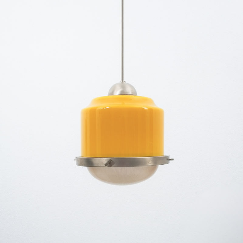 Stilnovo Yellow White Glass Pendant 02